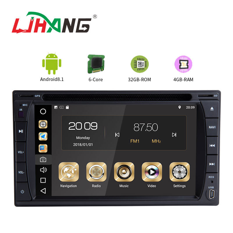 Multipoint Screen Double Din Dvd Player , PX6  8core Android Car Dvd Player Gps Navigation