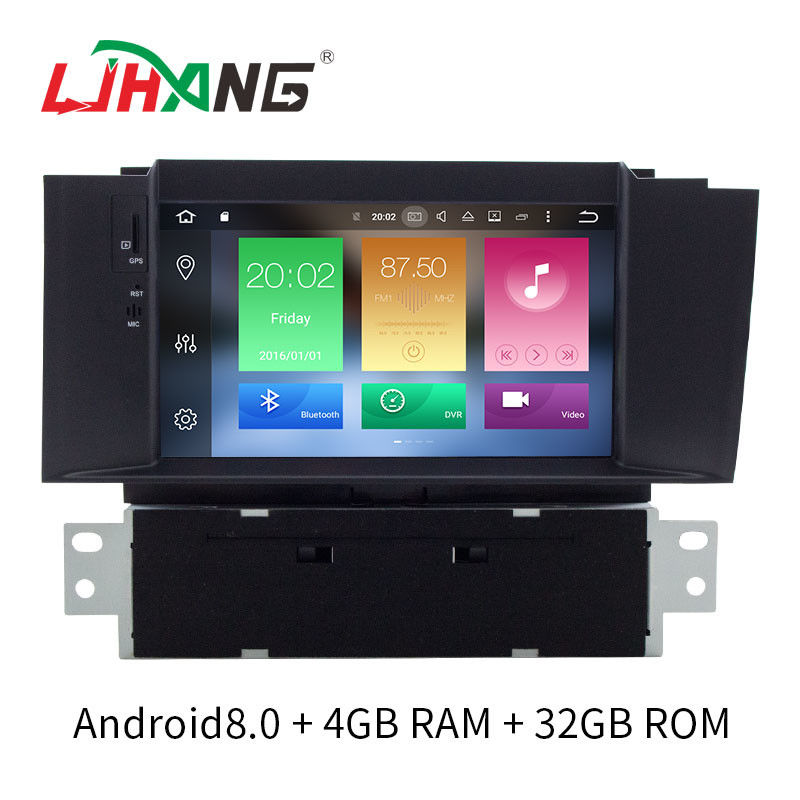 Double Din Android 8.0 Citroen Car Stereo Player AM FM Radio For Citroen C4L